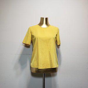 FOREVER 21 Mustard Zippered Back Shirt